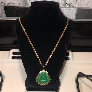 Chinese budda jade necklace